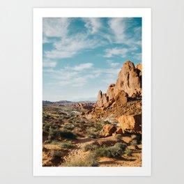 Rock Mountains in the Desert Art Print