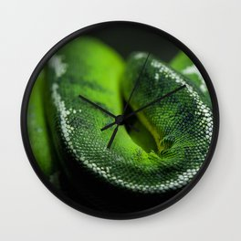 Green Scales Wall Clock