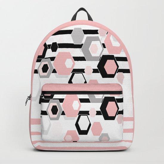 Geometric pattern . Hexagons . 1 Backpack