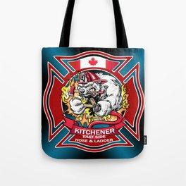 Kitchener East Side Hose & Ladder RED CREST Tote Bag