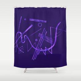 Kandinsky - Purple Abstract Art Shower Curtain