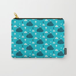 Travel pattern with mountains and baloons Carry-All Pouch
