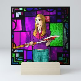 Stained Glass Buffy Mini Art Print