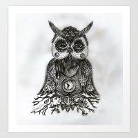 Owl Tattoo Art (2) Art Print