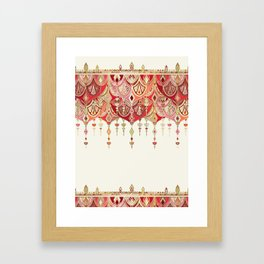 Royal Red Art Deco Double Drop Framed Art Print