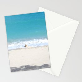 White on Blue Stationery Cards