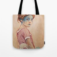 michael clifford Tote Bags featuring Within White by Michael Shapcott