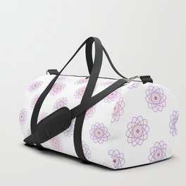Rainbow Cyberatomic Flowers Duffle Bag