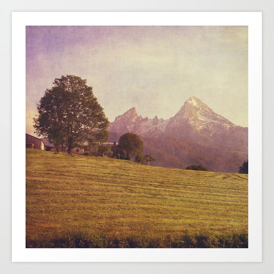 WATZMANN - mountain in the Bavarian Alps Art Print