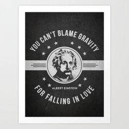 Albert Einstein - Dark Art Print
