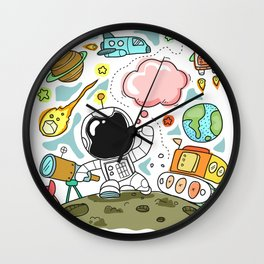 drawing space Wall Clock