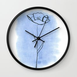 A pretty poppy Wall Clock