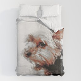 Portrait of a Yorkie | Dogs  Duvet Cover