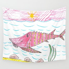 Tennessee Lake Sturgeon Wall Tapestry