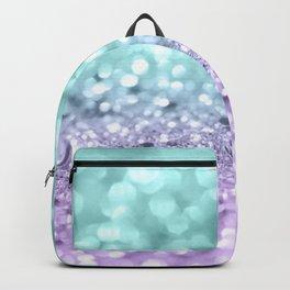 Aqua Purple MERMAID Girls Glitter #1 #shiny #decor #art #society6 Backpack