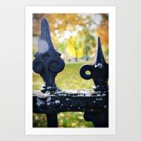 Iron Fence Boston Art Print