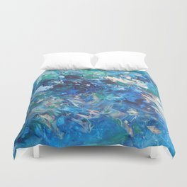 A Boat's Wake Duvet Cover