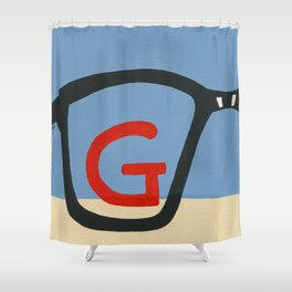 G is for Glasses Shower Curtain