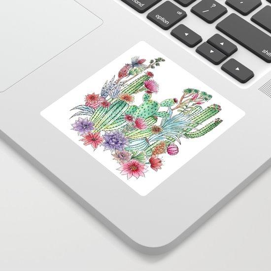 Cactus garden by juliagrifoldesigns