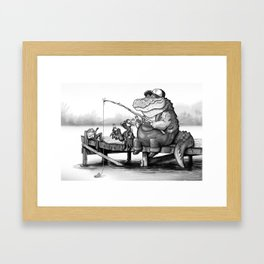 Fishing Buddies Framed Art Print