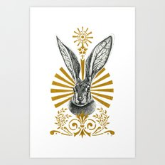 Beasts of the forest: Hare Art Print