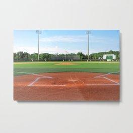 Play Ball! - Home Plate Metal Print