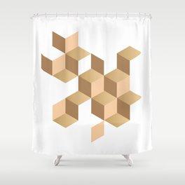 cubes deconstruction Shower Curtain
