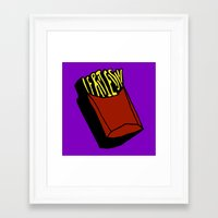 fries Framed Art Prints featuring Fries by Osheyack