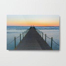 Sunrise on Red Sea Metal Print