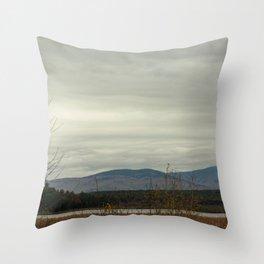 Late Fall Mountain Throw Pillow