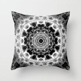 Black-and-White Abstract 51 Throw Pillow