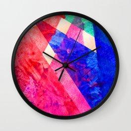 Rainbow Shards Wall Clock