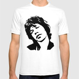 "BEAUTIFUL GIFTS OF Sir Michael Philip ""Mick"" JaggerBlack White Face, Music, Art T-shirt"