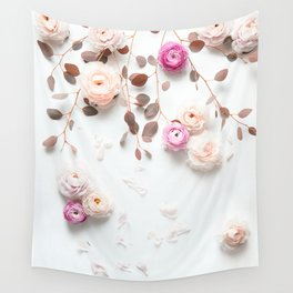 SPRING FLOWERS IN BLUSH 1 Wall Tapestry