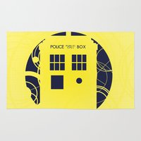 doctor who Area & Throw Rugs featuring Doctor Who by LukeMorgan