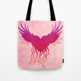 Give wings to my heart Tote Bag