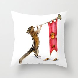 Herald Chipmunk Throw Pillow