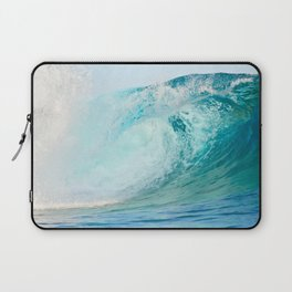 Pacific big surfing wave breaking Laptop Sleeve