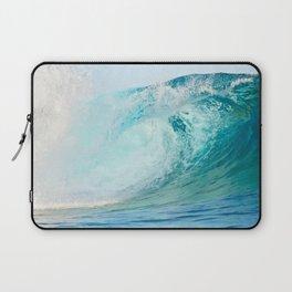 Pacific big surfing wave breaking Laptop Sleeve
