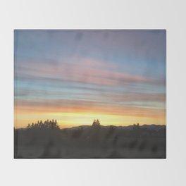 Rainbow Sunrise Throw Blanket