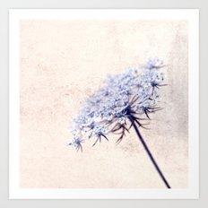 flor azul Art Print