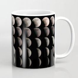 Super Moon, Blood Moon, Total Lunar Eclipse timelapse showing all phases Coffee Mug