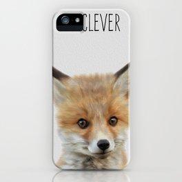 Woodland Fox-Nursery Woodland Art,  iPhone Case