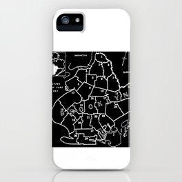 Brooklyn Vintage Map 1957 iPhone Case