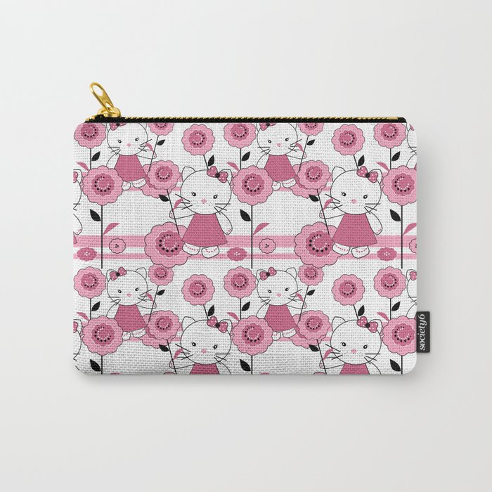 Kittens . White background. Carry-All Pouch