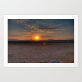 Sunrise Over The Negev Art Print