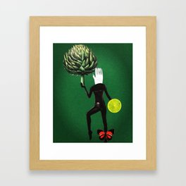 artichoke soldier Framed Art Print