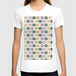 Colorful dots pattern T-shirt