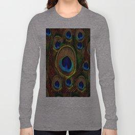 Rich Hazel Brown-Green Peacock Blue  Eyes Long Sleeve T-shirt