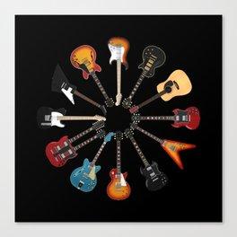 Guitar Circle Canvas Print